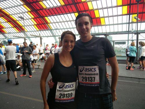 Jorien en Luuk lopen Amsterdamse marathon voor Bambanani